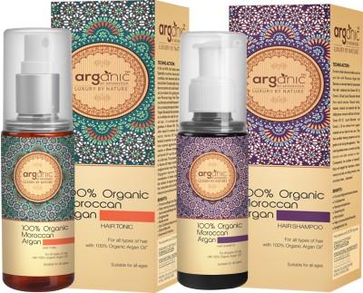 Aryanveda Herbals 100% Moroccan Arganic Hair Shampoo & Hair Tonic