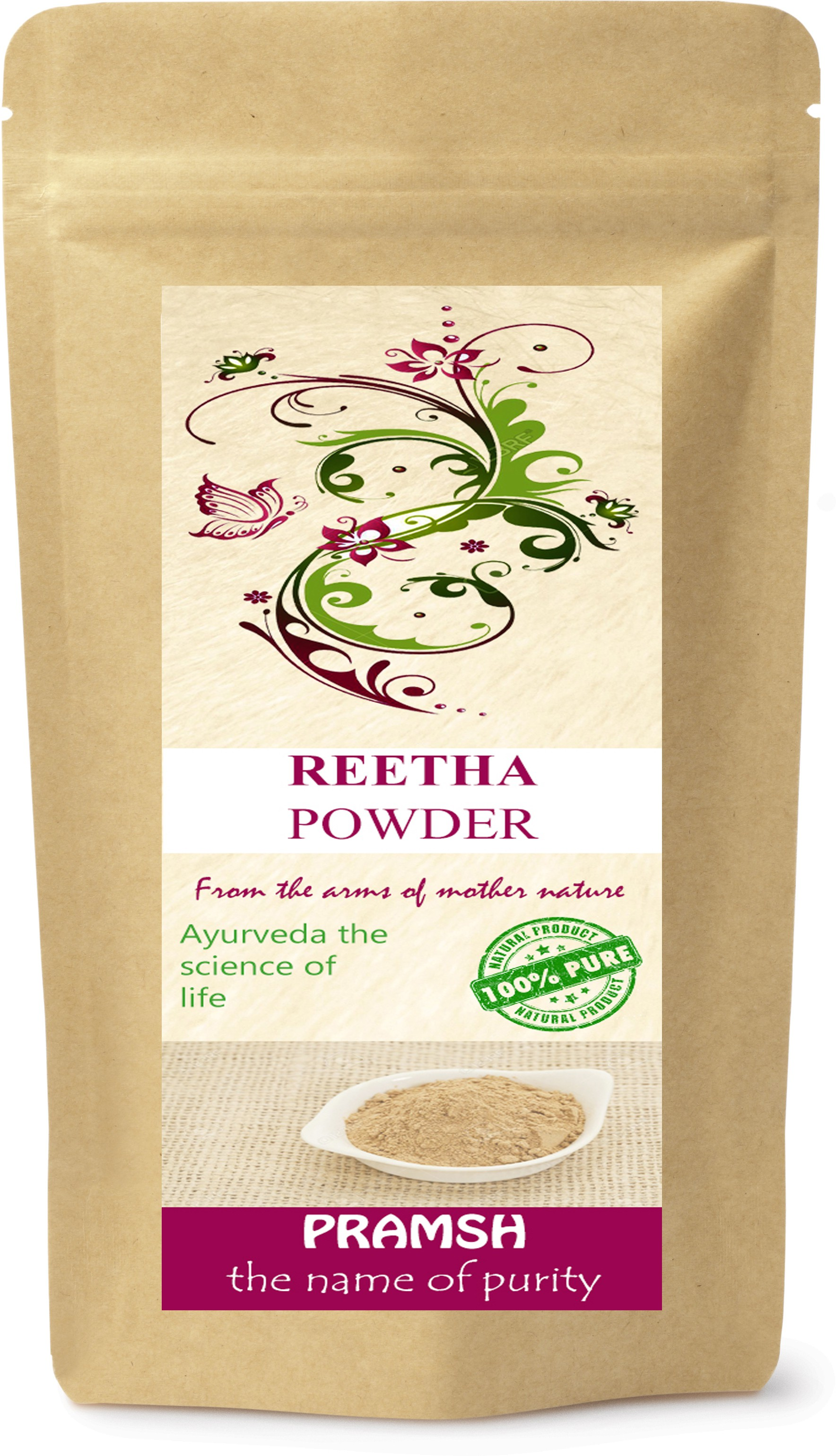 Pramsh Premium Quality Reetha Powder 500gm(500 g)