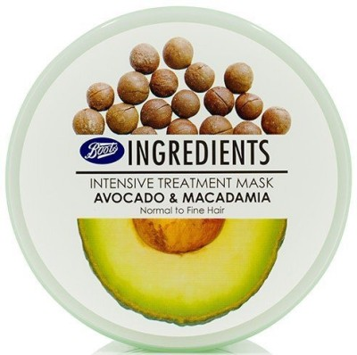 Boots Ingredients Intensive Treatment mask Avocodo and macadamia Normal to Fine Hair