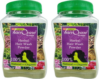 hairocare Herbal Hair Wash Powder - Pack of 2 x 175g -Anti-Dandruff