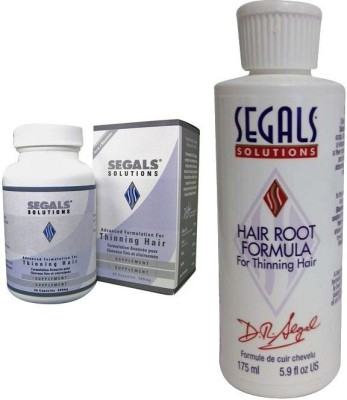 Segals Solutions 4-Step Dandruff and Hair Loss Control Program [Combo Pack ]