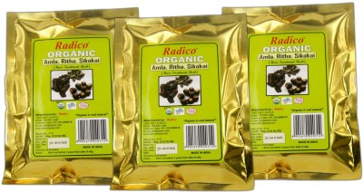 Radico Organic Amla, Ritha, Sikakai Powder (Set Of 3)