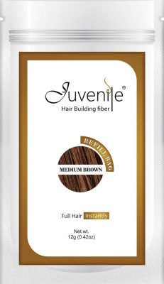 Juvenile Hair Building Fiber Refill Bag Pack Of Medium Brown 12gm