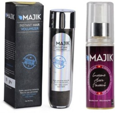 Majik Hair Building Fiber 54 Gm Dark Brown With Hold Spray