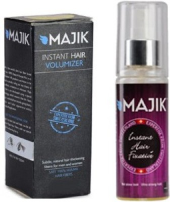 Majik Hair Building Fiber 36 Gm Dark Brown With Hold Spray
