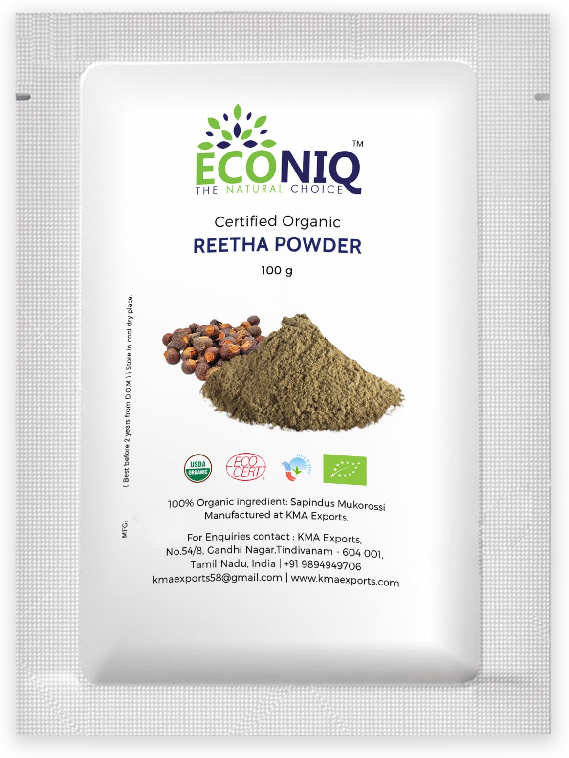 Econiq Reetha�powder for hair(100 g)