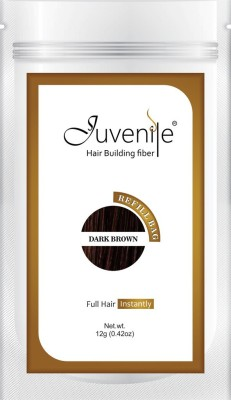 Juvenile Hair Building Fiber Refill Bag Dark Brown 12gm