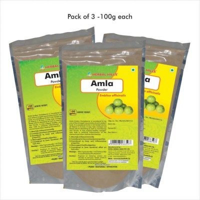 Herbal Hills Amla Powder, 100g (Pack of 3)