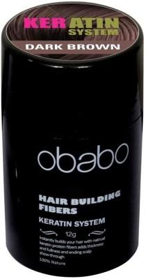 Obabo Instant Hair Loss Building Fibers Dark Brown