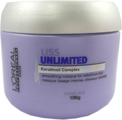 L ,Oreal Paris Paris Liss Unlimited Keratinoil Complex Smoothing Masque For Rebellious