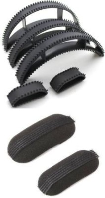 Out Of Box Puff Set Of 5 And Chimti 2pcs OOB_1002 High Hair Volumizer Bumpits(7 g)