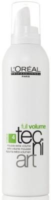 L,Oreal Paris Full Volume Tecni Art force 4 Extra Volume for Unisex Hair Volumizer Gel Mousse(250 ml)