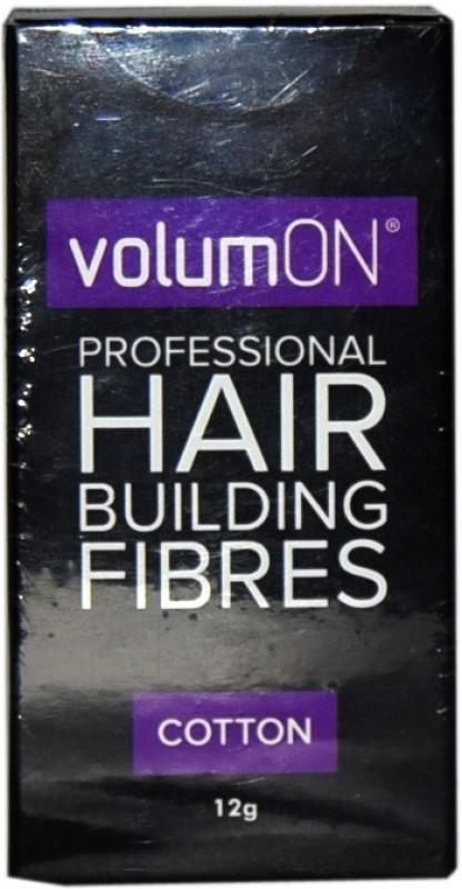 VolumOn Professional Hair Building Fibres - Black M-023 Extreme Hair Volumizer Cotton Fibres(12 g)