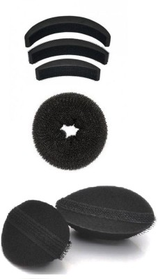 Out Of Box Set Of 3 Hair Puff And Donut Bun Medium Size With Velcro Puffs Oob_1124 Extreme Hair Volumizer Bumpits