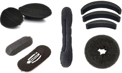 A Shreeparna Puff Bumpits 7 Pieces with 2 Different Donut Buns Combo SP-67 Extreme Hair Volumizer All types of Hair(20 g)