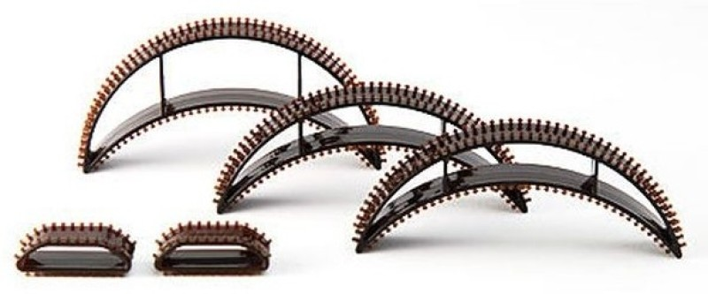 Nirus Hair Volumising Inserts-Bumpits - Black Hair Volumizer Plastic Bumpits(5 pcs)