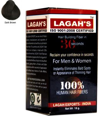 Lagah's Natural Brown18 Medium Hair Volumizer Powder