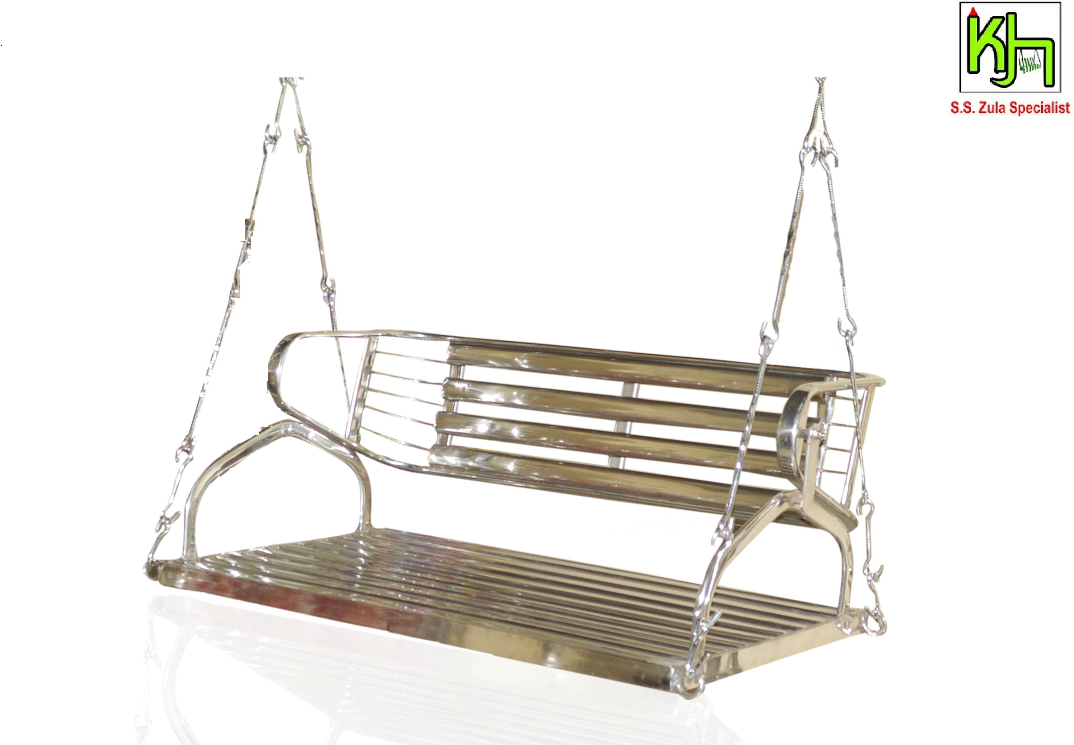 View Kamlesh Zula House Stainless Steel Swing(Silver) Furniture (Kamlesh Zula House)