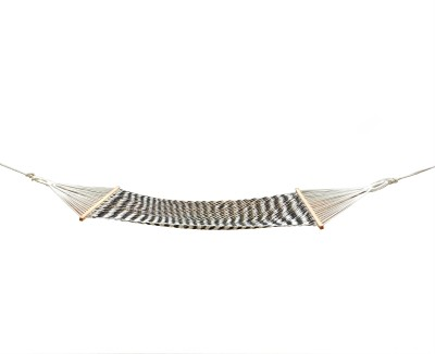 Royallyrelax Black & White Sleeping Cotton Hammock(Black, White)