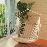 Hangit Soft Tan Chair Polyester Swing(Brown)
