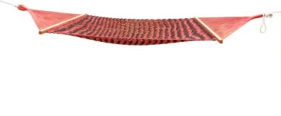 Royallyrelax Black & Red Sleeping Cotton Hammock(Red, Black)