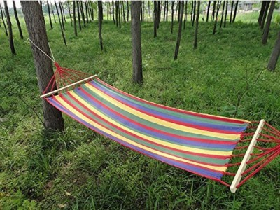 7Trees Single Person Hammock with Spreader Bars, 39 inch, 1 Piece Cotton Hammock