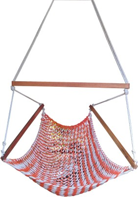 Royallyrelax Cotton Swing(White, Orange)
