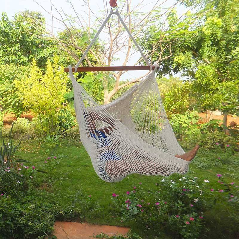 View Royallyrelax Mexican Swing Cotton Swing(White) Furniture (Royallyrelax)
