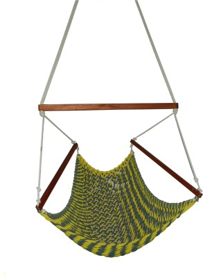 Royallyrelax HandmadeRope Cotton Hammock(Multicolor)