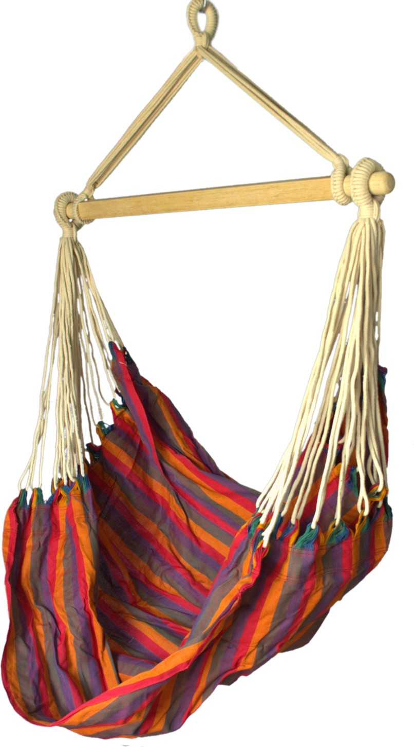 View Slack Jack Cotton, Wooden Swing(Multicolor) Furniture (Slack Jack)