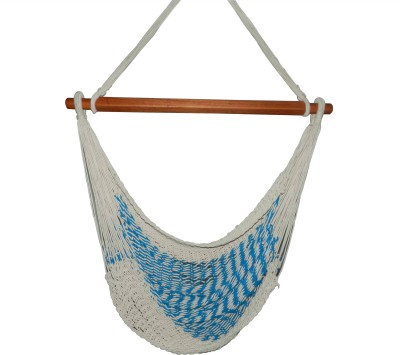 Royallyrelax Handmade Mexican Rope Cotton Hammock(Blue)