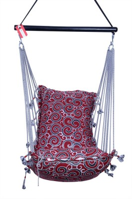 Kkriya Home Decor Swing King Cotton Hammock(Red)