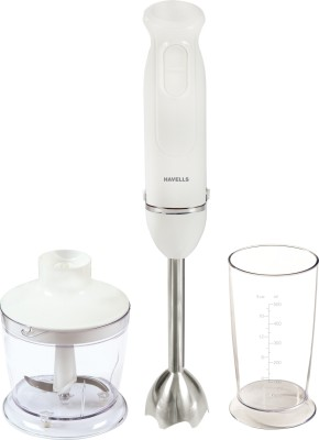Havells Super Blend Plus with Chopper 400 W Hand Blender(White)