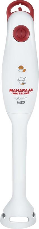 Maharaja Whiteline Turbomix HB-100 350 W Hand Blender(White, Red)