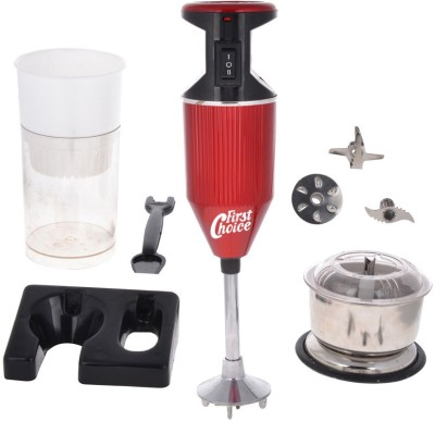 First Choice FCRed with Attachment 200 W Hand Blender