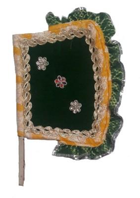 Apex Self Design Yello, Green Hand Fan