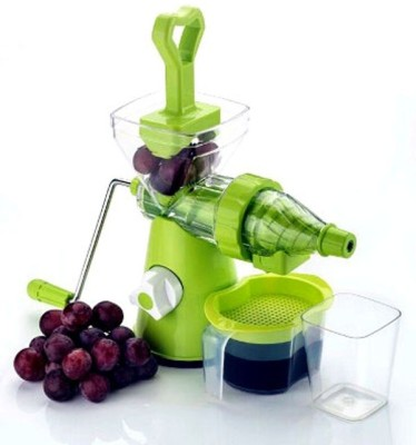Scrazy Hand Juicer Plastic, Stainless Steel Hand Juicer(Green Pack of 1)
