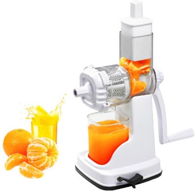 Your Choice Deluxe Fruit & Vegetable Juicer Plastic Hand Juicer(White Pack of 1)
