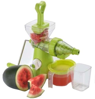 Scrazy Unique Fruit & Vegeatble Plastic, Stainless Steel Hand Juicer(Green Pack of 1)