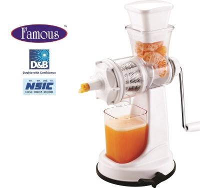 Famous FJ01 Plastic, Steel Hand Juicer(White Pack of 1)