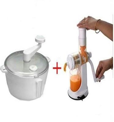 PUSHCART Plastic Hand Juicer(Multicolor)