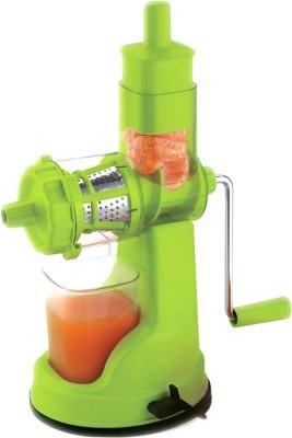 Jen Deluxe Green Plastic, Steel Hand Juicer