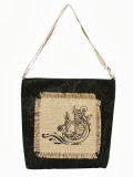 Jute Tree Tote (Black)