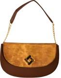 Demure Shoulder Bag (Brown, Gold)