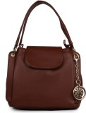 Glasy Hand-held Bag (Brown)