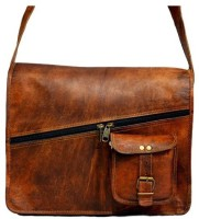 Indias Creation Messenger Bag(Brown)