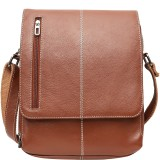 Leather Junction Sling Bag (Tan)