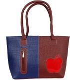 Esskay Hand-held Bag (Brown, Blue)
