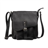 Goodwill Leather Art Messenger Bag (Blac...