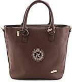 Calvino Hand-held Bag (Brown)